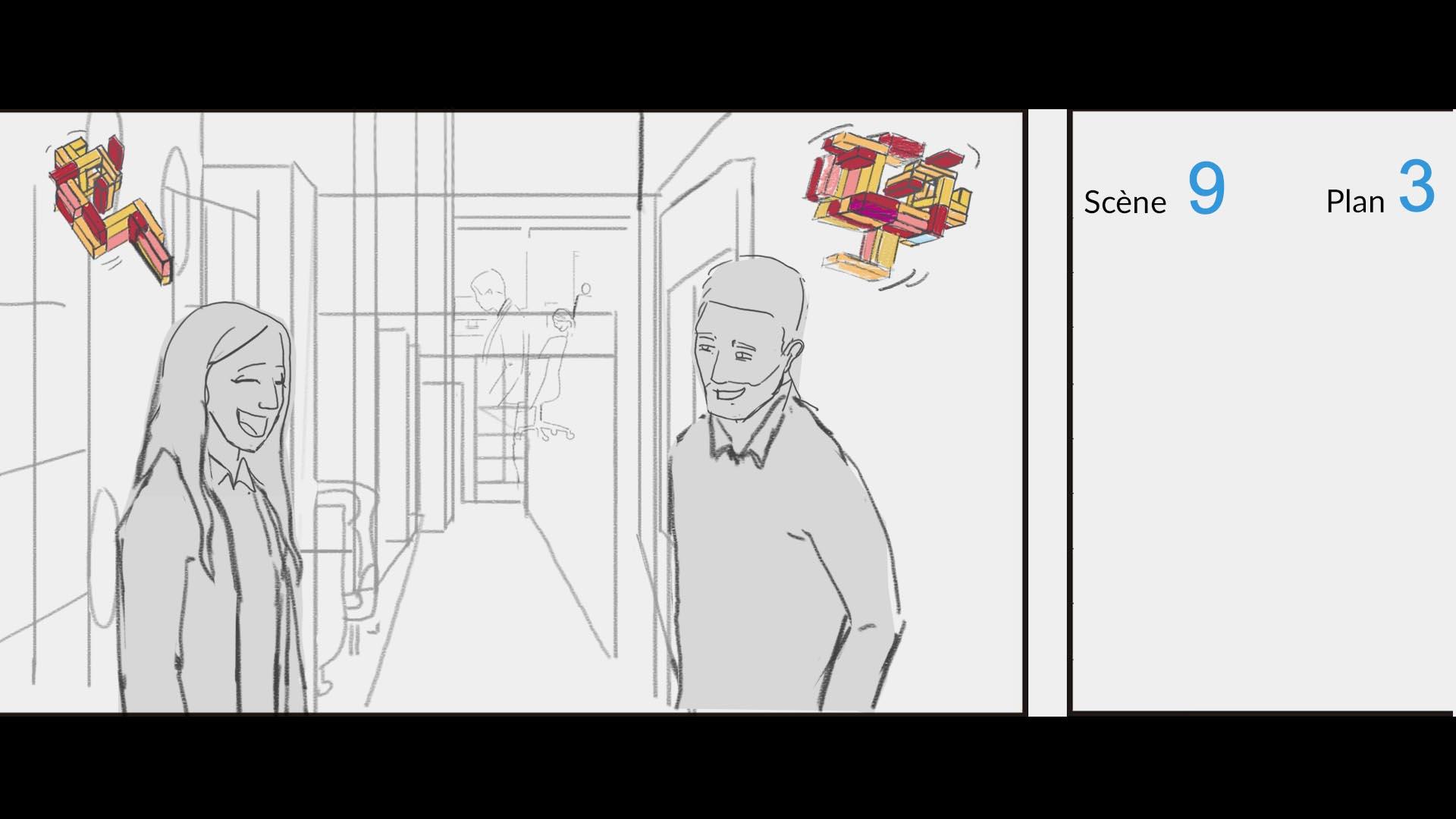 Image tirée du StoryBoard relatif au film promotionnel réalisé pour PWC